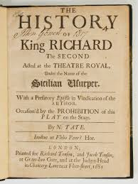 the history of king richard the second u2013 shakespeare at iowa