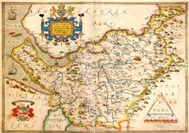 Cheshire England Map by England U0026 Wales Christopher Saxton 1579 M Aa 3 U2013 L Brown Collection