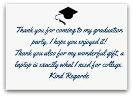 graduation thank you notes best ideas of graduation thank you notes in exle thank you note
