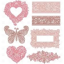 pink frames and borders made of beautiful ornament royalty free