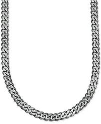 mens jewelry necklace chain images Esquire men 39 s jewelry wide link 5 1 4mm curb chain in sterling tif