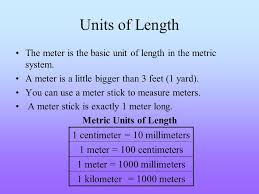 ch 16 using units of measure vocabulary metric system meter