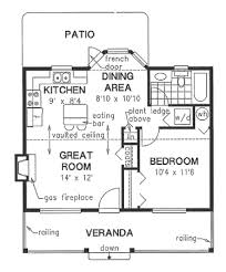 french cottage floor plans cottage style house plan 1 beds 1 baths 614 sq ft plan 18 1048