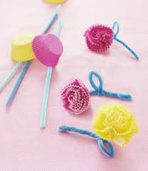 pretty cupcake liner flowers parents