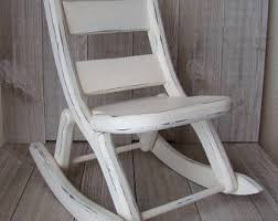 White Childs Rocking Chair Doll Rocking Chair Etsy