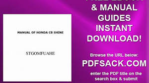 manual of honda cb shine video dailymotion