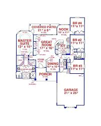 rectangle house plans one story amazingplans house plan h1933a traditional ranch southern style