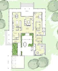 floor plans with courtyard house plans with courtyard in middle four bedroom style home plan
