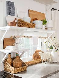 No Door Kitchen Cabinets 15 Tips For A Cottage Style Kitchen Cottage Style Flea Market