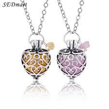 locket pendant necklace images Heart locket pendant necklace natural stone pink crystal quartz jpg