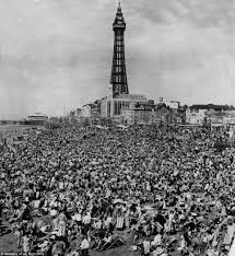 blackpool shown in it u0027s heyday as the british holiday resort