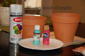 my kind of crafts painting flower pots