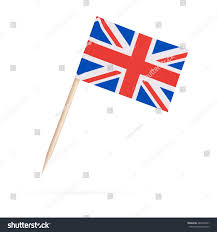 Miniature Flags Miniature Paper Flag Great Britain Isolated Stock Photo 483539467