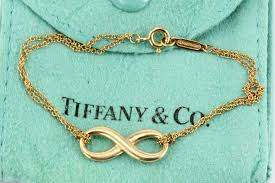 bracelet infinity tiffany images Tiffany co 18k rose gold infinity bracelet 6 quot queen may jpg