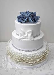 wedding cake royal blue royal blue ombre ruffle wedding cake cake by bethany