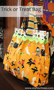 fabric mill trick or treat bag tutorial