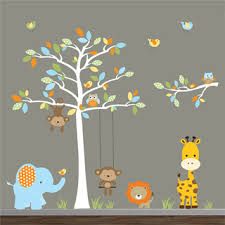 Boys Nursery Wall Decals Baby Nursery Decor Happy Animals Baby Boy Nursery Decals