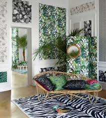 House Interior Wallpaper 544 Best Tropical Print Interiors Images On Pinterest Tropical