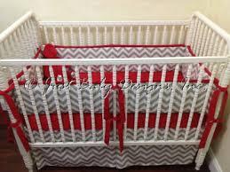 baby bedding crib set ashton gray chevron and red crib bedding
