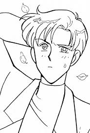 chiba mamoru coloring page sailormoon sailor moon coloring