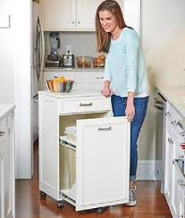 Trash Can Storage Cabinet Mobile Trash Can Bin Cabinet Storage Cupboard Rolling Garbage
