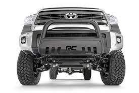 toyota tundra rough country black bull bar for 07 17 toyota tundra b t2071