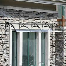 System Awnings Glass Canopy System Outdoor Awnings Solid Polycarbonate Awning