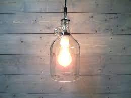 build wine bottle pendant light shaped lights glass half gallon