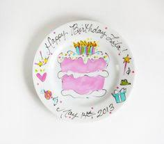 personalized cake plate it s your special day small rimmed plate by aedriel originals