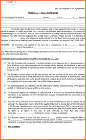 Letter Of Agreement Sle For Loan personal guarantee agreement for loan the best agreement of 2018