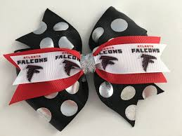 atlanta falcons hair bow falcons bow super bowl hair bow black