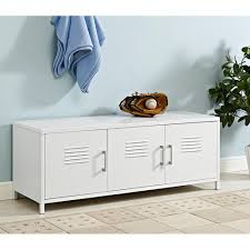 storage bench file cabinet bench white entryway furniture furniture the home depot