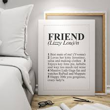 Comforts Definition Personalised Dictionary Definition Friend Canvas Find Me A Gift