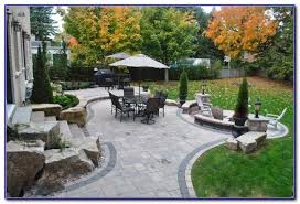 Backyard Paver Patio Pictures Patios Home Decorating Ideas