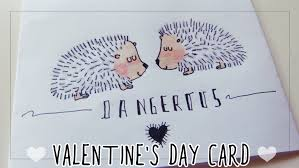 valentine u0027s day card for boyfriend drawing hedgehogs youtube