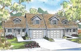 duplex plan kirkwood 60 013 front elevation duplex plans