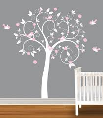 children wall decal white pink nursery vinyl wall stickers