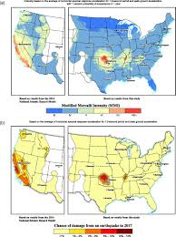 Western United States Map 2017 One U2010year Seismic U2010hazard Forecast For The Central And Eastern