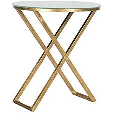 Safavieh Home Furniture Amazon Com Safavieh Home Collection Tara Gold Accent Table
