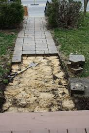 high street market diy antique brick pathway