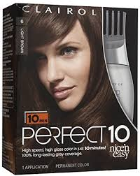 Hair Color Light Brown Amazon Com Clairol Perfect 10 By Nice U0027n Easy Hair Color 006