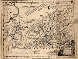 Pennsylvania Counties Map by Pennsylvania A Map Of The Province Of Pensilvania Drawn From