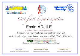 certificates u2013 wirelessu nsrc isoc workshops