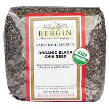 bergin fruit and nut company organic black chia seed 16 oz 454