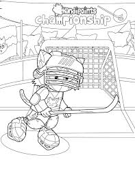 hockey player coloring page handipoints