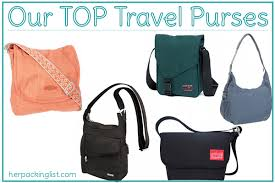 Our top travel purses her packing list