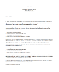 Sales Resume Cover Letter Examples by Sample Sales Cover Letter 10 Examples In Word Pdf