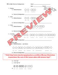 Electron Configuration Worksheet Answer Key Plan How To Write Electron Configurations And Orbital Notations