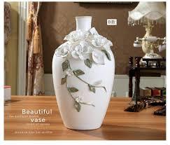 Flowers For Floor Vases Ceramic Chinese White Modern Flowers Vase Home Decor Large Floor