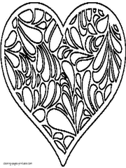 printable heart coloring pages funycoloring